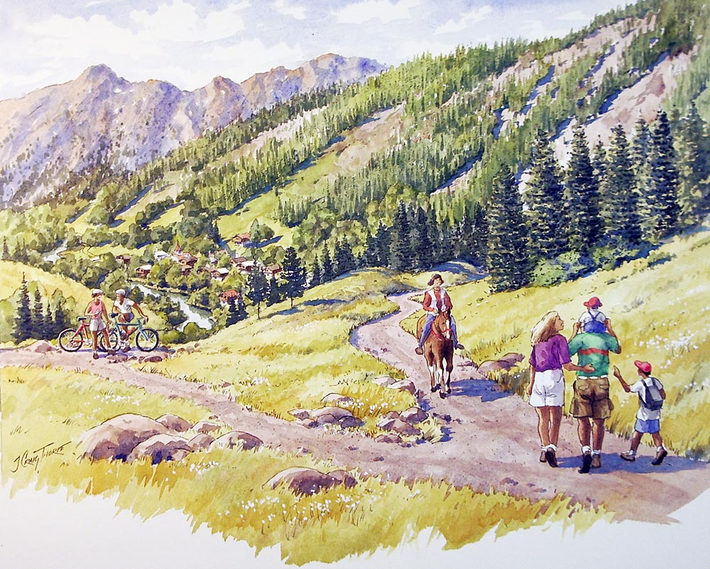 Detail of improved trails for hiking, biking and equestrian use;  City of Leavenworth, WA