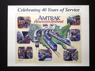 Amtrak 40 Year Anniversary Poster
