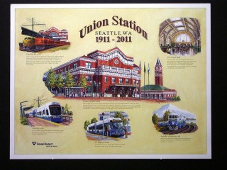 Seattle Union Station Centennial Poster