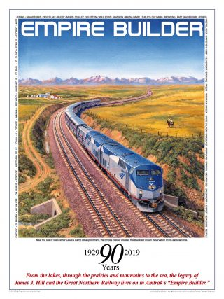 Empire Builder 90th Anniversary Poster